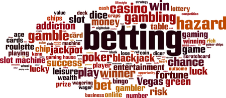 Betting word cloud concept. Vector illustration