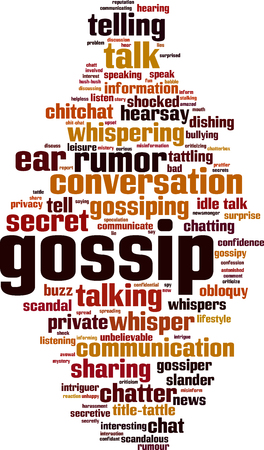Gossip word cloud concept. Vector illustration 版權商用圖片 - 90358684