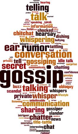 Gossip word cloud concept. Vector illustration Illustration