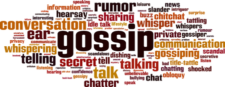 Gossip word cloud concept. Vector illustratie
