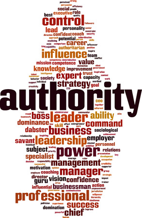 Authority word cloud concept. Vector illustration