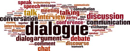 Dialogue word cloud concept. Vector illustration