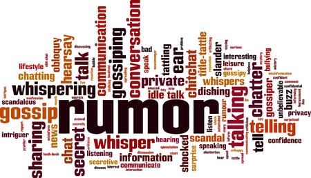 Rumor word cloud concept. Vector illustration
