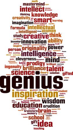 Genius word cloud concept. Vector illustration Stock Vector - 90745313