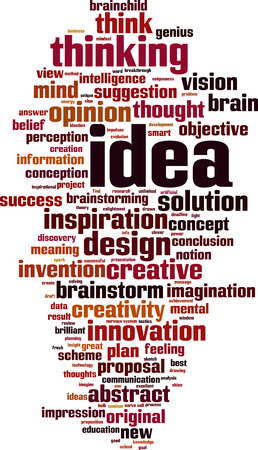 Idea word cloud concept. Vector illustration