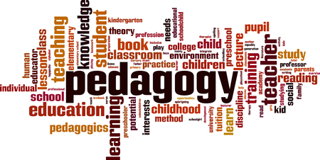 Pedagogy word cloud concept. Illustration