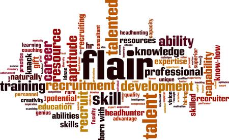 Flair word cloud concept. Vector illustration Illustration