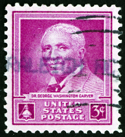 USA - CIRCA 1948: a stamp printed in the USA shows Dr. George Washington Carver, scientist, circa 1948 Editorial
