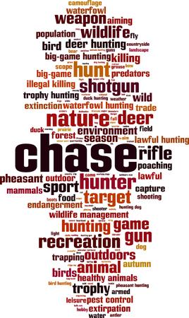 Chase word cloud concept illustration. Illustration