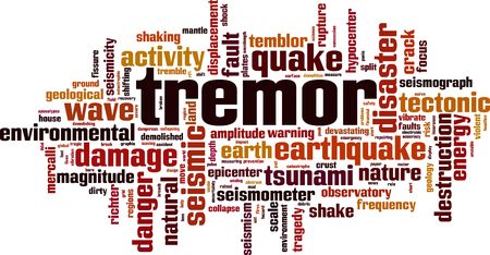 Tremor word cloud concept. Vector illustration