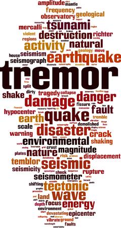 Tremor word cloud concept. Vector illustration