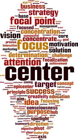 Center word cloud concept illustration. 向量圖像