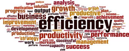 Efficiency word cloud concept illustration.