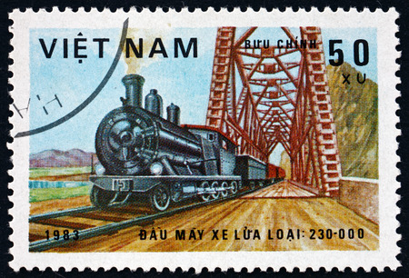 VIETNAM - CIRCA 1983: a stamp printed in Vietnam shows locomotive, class 230-000, circa 1983