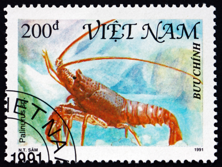 VIETNAM - CIRCA 1991: a stamp printed in Vietnam shows shellfish, circa 1991