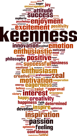 Keennes word cloud concept. Vector illustration
