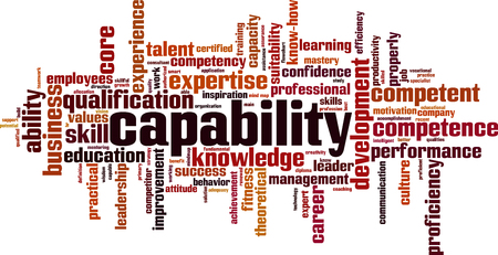 Capability word cloud concept. Vector illustration Illustration