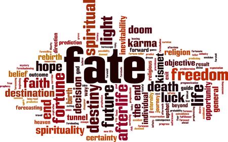 Fate word cloud concept vector illustration. Ilustrace