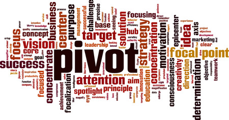 Pivot word cloud concept. Vector illustration Stock Illustratie