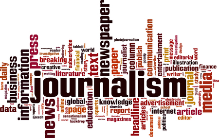Journalism word cloud concept. Vector illustration