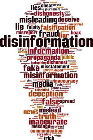 Concept de nuage de mot désinformation. Illustration vectorielle Banque d'images - 94243497