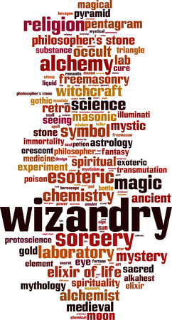 Wizardry word cloud concept. Vector illustration