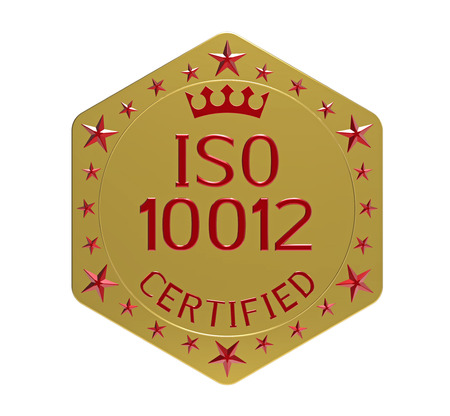 ISO 10012 standard, measurement management system, 3D render, isolated on white