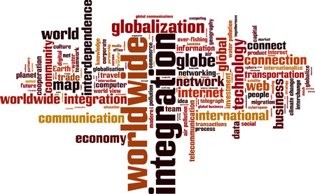 Worldwide integration word cloud concept. Vector illustration Stock Vector - 94694267