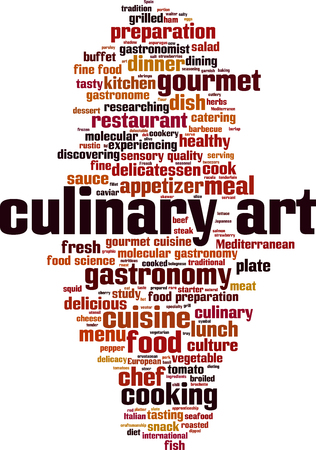 Culinary art word cloud concept Vector illustration