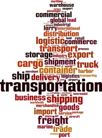 Transportation word cloud concept. Vector illustration Illustration