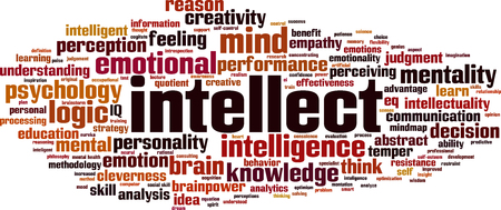 Intellect word cloud concept. Vector illustration