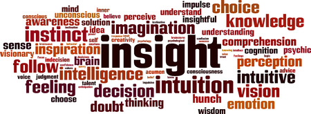 Insight word cloud concept. Vector illustration