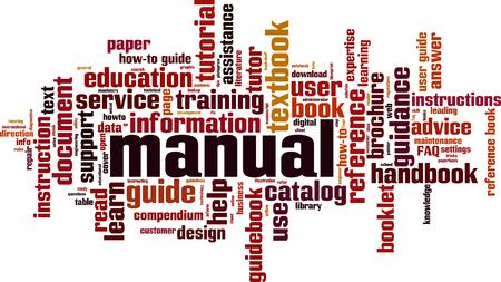 Manual word cloud concept Vector illustration