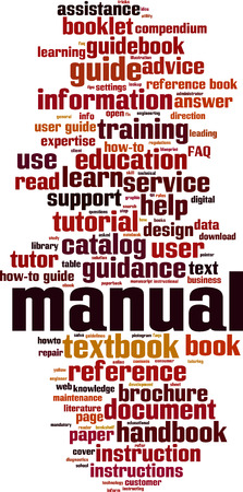 Manual word cloud concept. Vector illustration Ilustração