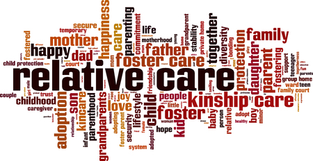 Relative care word cloud concept. Vector illustration
