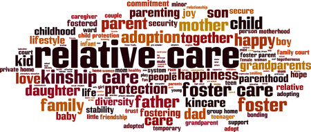 Relative care word cloud concept. Vector illustration. Illustration