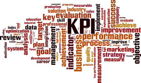 KPI word cloud concept. Vector illustration 向量圖像