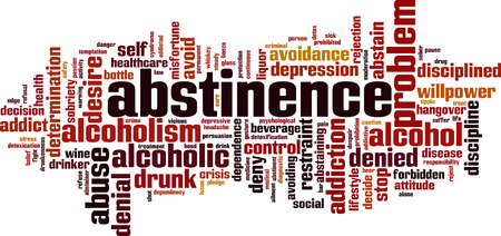 Abstinence word cloud concept. Illustration