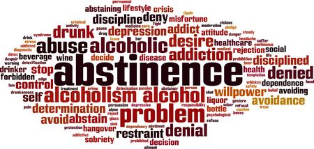 Concept de nuage de mot abstinence. Illustration vectorielle.