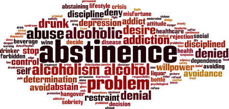 Abstinence word cloud concept. Vector illustration. Illustration
