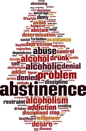 Concept de nuage de mot abstinence. Illustration vectorielle. Vecteurs