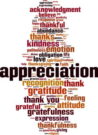 Appreciation word cloud concept. Vector illustration