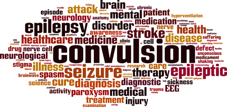 Convulsion word cloud concept Vector illustration