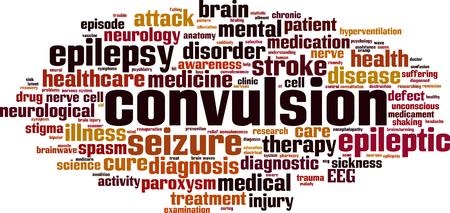 Convulsion word cloud concept Vector illustration