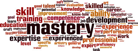 Mastery word cloud concept. Vector illustration Illusztráció