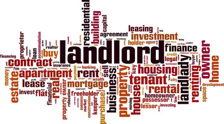Landlord word cloud concept. Vector illustration Illustration