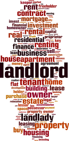 Landlord word cloud concept. Vector illustration  イラスト・ベクター素材