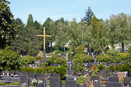 CROATIA ZAGREB, 21 AUGUST 2012: The Mirogoj cemetery is a cemetery park, one of the most notable sites of Zagreb, Croatia