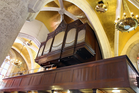 Pipe organ in the church of St. Mark, Zagreb Editorial