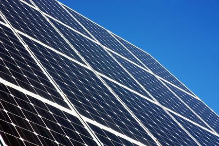 Solar panels, alternative energy, background Stock Photo